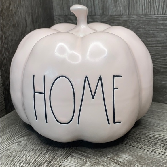 Rae Dunn HOME pale pink small pumpkin NEW!